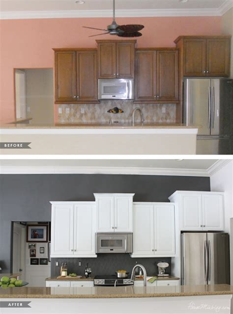 how to install kitchen backsplash how i transformed my kitchen with paint house mix