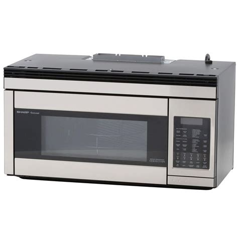 built in microwave ovens with exhaust fan sharp 1 1 cu ft over the range convection microwave in