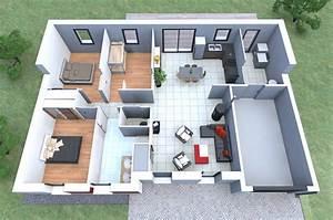 plan de maison datis nl 3 personnalisable With wonderful construire sa maison 3d 5 plan maison 90m2 3d
