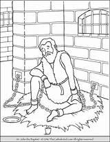Baptist Coloring John Pages Catholic Jail Saint Bible Printable Imprisoned Sheets Saints Sunday Jesus Zechariah Prison Peter Sheet Elizabeth Kid sketch template