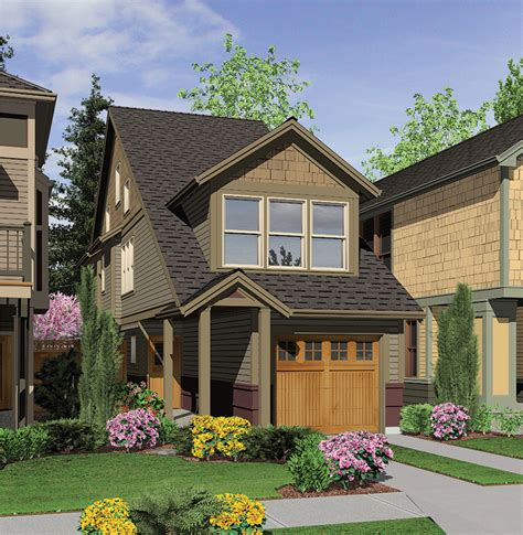 perfect home plan   narrow lot   floor master suite cad  loft