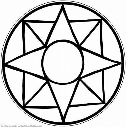 Mandala Coloring Simple Easy Patterns Printable Square