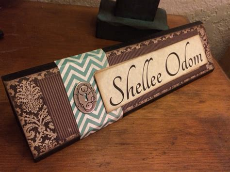 cool desk name plates unique wooden office desk name plate plaque by shelleeodom