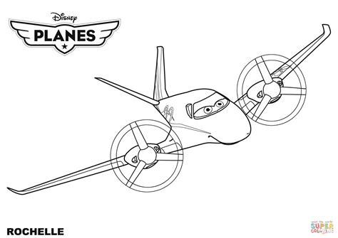 Disney Planes Rochelle Coloring Page