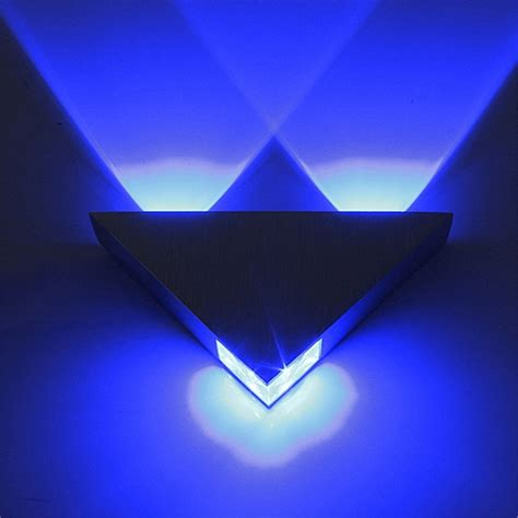 modern led wall l 3w ac85 265v fashion home decoration indoor triangle multi color wall