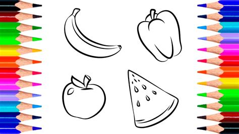 drawing  children fruits  vegetables