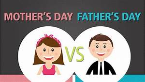 Mother's Day vs. Father's Day (Infographic) - The Reader's ...