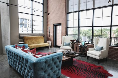 modern industrial living room ideas modern loft designed by estrada interior design Modern Industrial Living Room Ideas