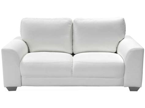 canapé cuir blanc conforama canapé fixe 2 places darly coloris blanc canapé conforama