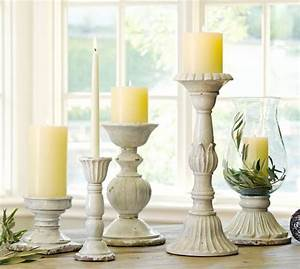 leah candleholders pottery barn With kitchen colors with white cabinets with square pillar candle holders