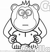 Gorilla Coloring Cartoon Lovesmag Terrific Printable sketch template