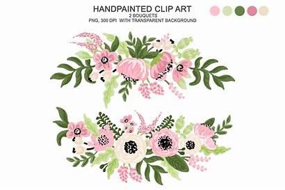 Watercolor Flower Clipart Floral Flowers Digital Clip