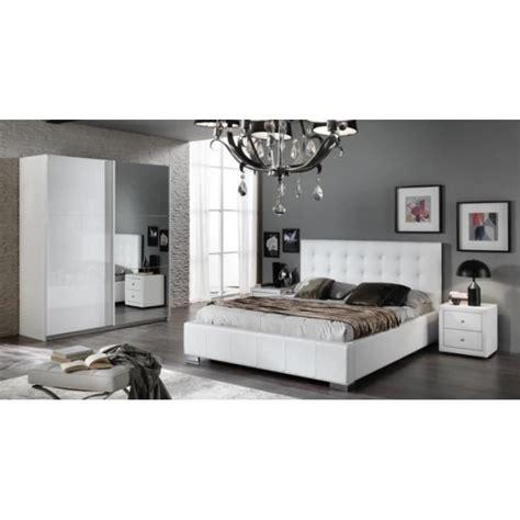 Chambre A Coucher Moderne, Laqué Blanc Brillant Achat