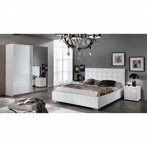 Modele De Chambre A Coucher Moderne : chambre a coucher moderne laqu blanc brillant achat vente chambre compl te chambre a ~ Melissatoandfro.com Idées de Décoration