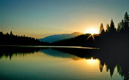 Nature Morning Lake Sunrise Dawn Mountain Forest