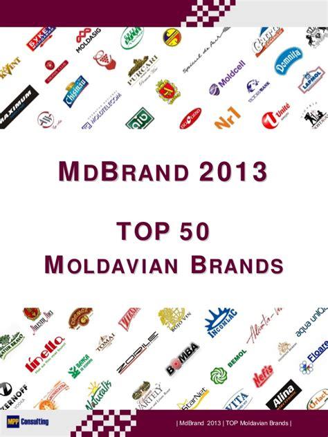 Mdbrand 2013  Top 50 Moldavian Brands