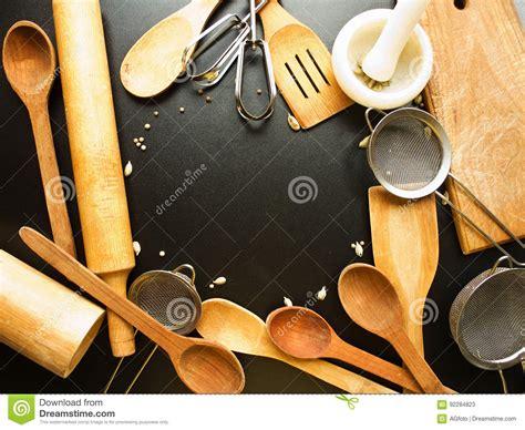 kitchen utensil background royalty  stock photography