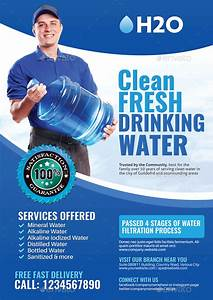 Corporate Cover Letters Watery Delivery Services Flyer By Artchery Graphicriver