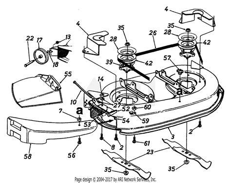 mtd agf  parts diagram  mowing deck