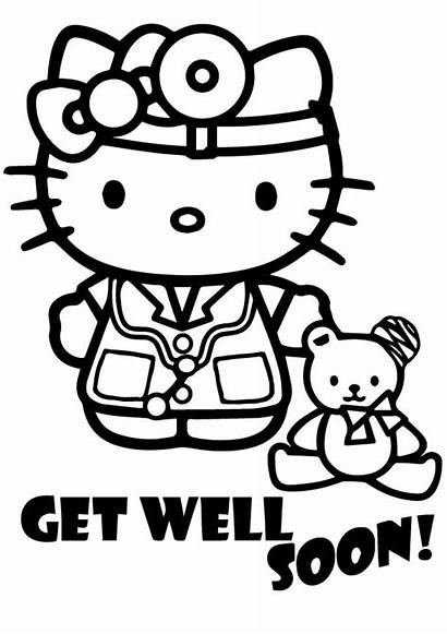 Well Soon Wishes Coloring Printable Pages Quotes