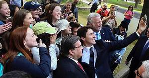 Justin Trudeau In Montreal Celebrating And Taking Selfies ...