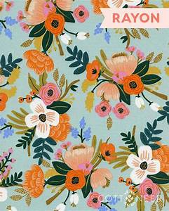 Lively Floral in Mint Rayon from Amalfi by Rifle Paper Co
