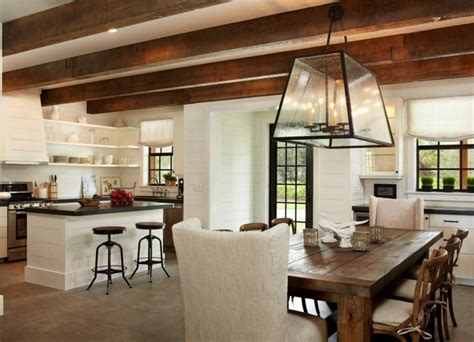 deco cuisine et blanc décoration cuisine cagne accueillante et chaleureuse