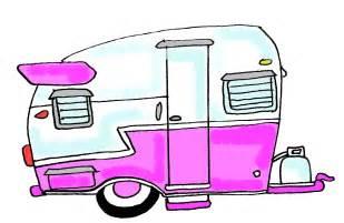 Cartoon Vintage Camper Trailers