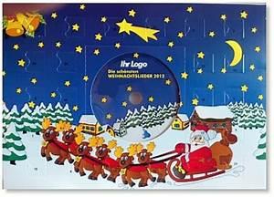 Schokoladen Adventskalender 2015 : adventskalender mit schokolade und weihnachts cd v llig individuell bedruckte werbeartikel ~ Buech-reservation.com Haus und Dekorationen