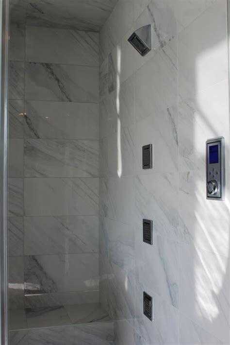 bianco carrara porcelain tile installed sale tile
