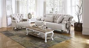 sofa mit sessel springfield village wohnzimmer loberon With country style wohnen