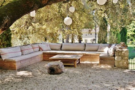 canapé d 39 angle en palettes outdoor