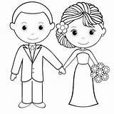 Groom Bride Coloring Sheets sketch template