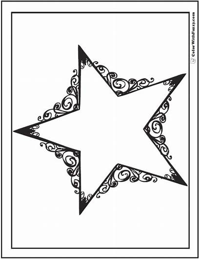 Coloring Star Pages Stars Printable Dallas Pdf