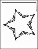 Coloring Star Pages Stars Printable Dallas Pdf Template Scrollwork Cowboy Cowboys Reach Colorwithfuzzy Results sketch template