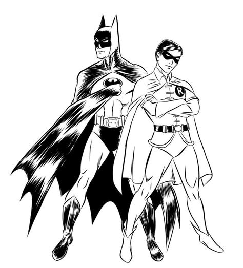 batman  robin coloring pages  kids coloring pages