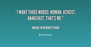 Madalyn Murray ... Woman Atheist Quotes