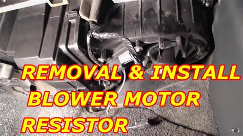 chevy tahoe blower motor resistor replacement youtube