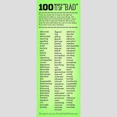 """100 Ways To Say """"bad"""""""