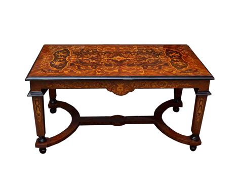 Fine Victorian Style Marquetry Coffee Table  Ref No 04060