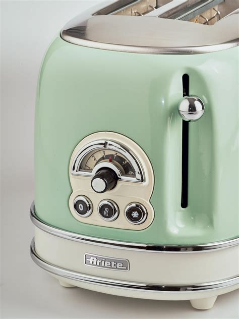 Tostapane Vintage by Toaster Vintage 2 Fette Verde Ariete Store