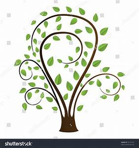 Tree Drawing On A White Background Stock Vector ...