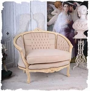 french salon sofa vintage canape boudoir shabby chic chair With canapé d angle shabby chic