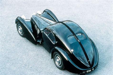 Bugatti's original la voiture noire exited the company's molsheim factory in 1937. 1936 Bugatti Type 57SC Atlantic - CARPEDIA