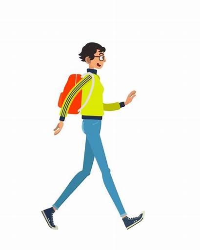 Walking Walk Animation Boy Cycles Animated Behance
