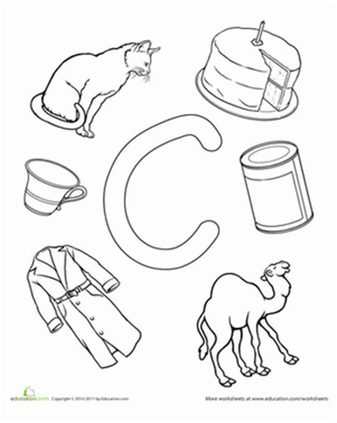 C Is For  Worksheet Educationcom