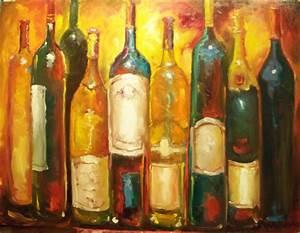 Susan Jenkins Morning Paintings: WINE BOTTLES