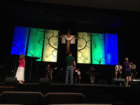 Church Stage Backdrop by Swirly Banners Church Stage Design Ideas