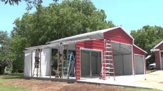 leland s texas on site barn metal carports youtube