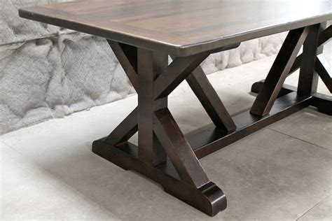 Restoration Hardware Inspired X Base Trestle Table